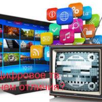 Цифровое ТВ — в чем разница между аналоговым и кабельным?